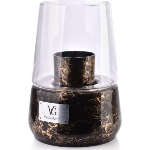 Lampion 25x18cm czarny marmur CRISTIE
