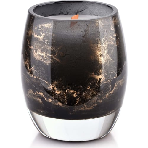 Świeca 10x8cm czarny marmur CRISTIE