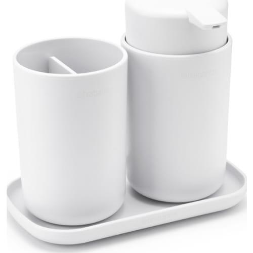Brabantia zestaw akcesoriów łazienkowych ReNew biały 3 szt.