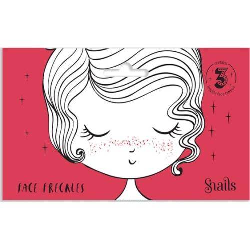 Naklejki na twarz Face Tattoo Snails - Piegi