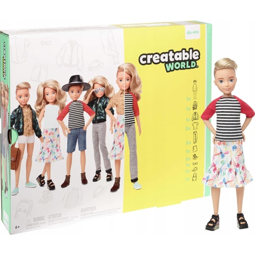 Barbie Creatable World Blond Włosy