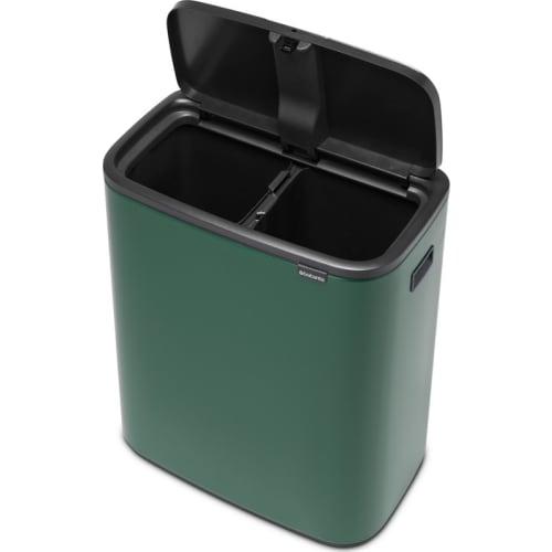 Brabantia kosz na śmieci Touch Bin Bo zielony Pine 2x30 l
