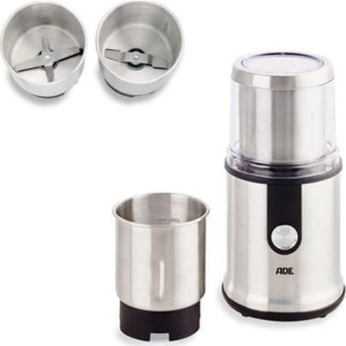Elektryczny młynek do kawy i przypraw, stal/tworzywo sztuczne, śr. 11,5 x 24 cm
