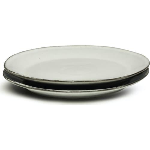 Zestaw talerzy białe, ceramika 22 cm 2 szt.