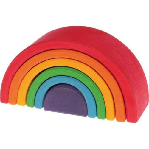 Drewniana Tęcza 6-elementowa, kolorowa, Grimm's
