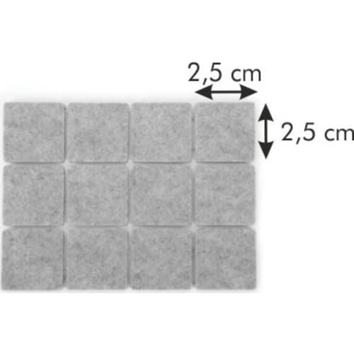 samoprzylepne podkładki pod meble PRESTO 25x25 mm, 24 szt
