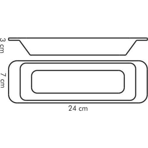 Misa podłużna GUSTITO 24x7 cm