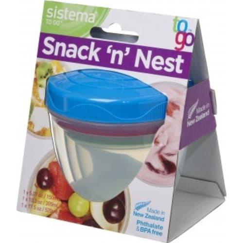 Zestaw 3 pojemników Snack'n'Nest Tray To Go Sistema