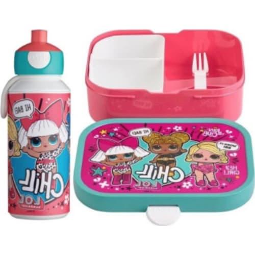 Mepal Zestaw butelka i lunchbox + widelczyk dla dziecka Lol Suprise