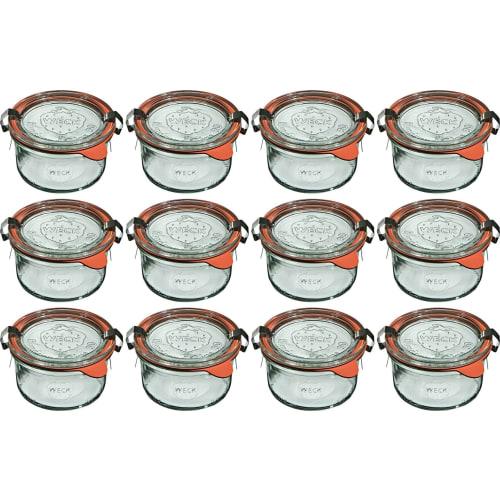 Mini słoik z pokrywką, uszczelką i 2 zapinkami 165 ml WECK op. 12 szt.