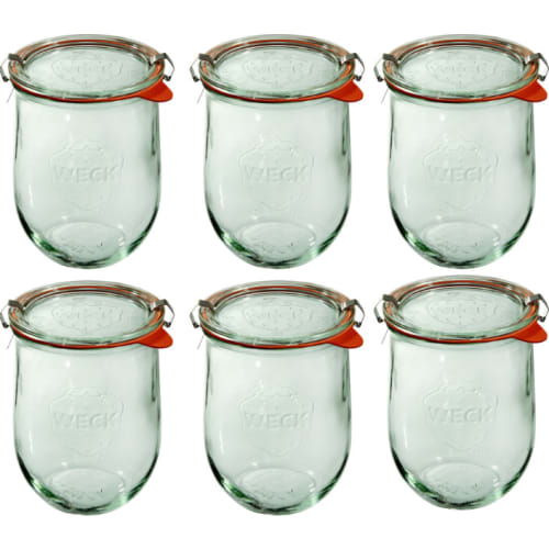 Słoik Tulip z pokrywką, uszczelką i 2 zapinkami 1062 ml WECK op. 6 szt.