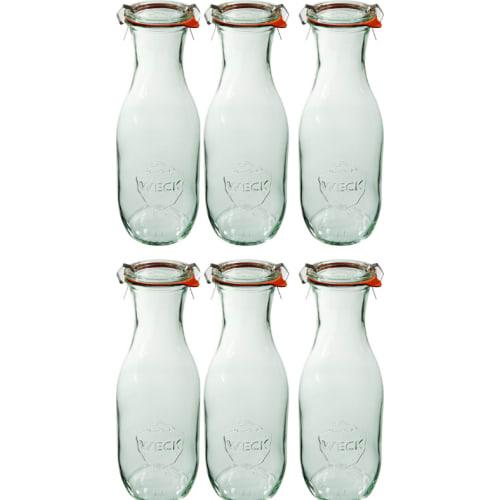 Butelka z pokrywką, uszczelką i 2 zapinkami 1062 ml WECK op. 6 szt.