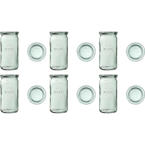 Słoik cylindryczny z pokrywką 340 ml WECK op. 6 szt.