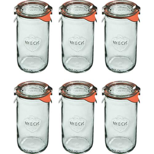 Słoik cylindryczny z pokrywką, uszczelką i 2 zapinkami 340 ml WECK op. 6 szt.