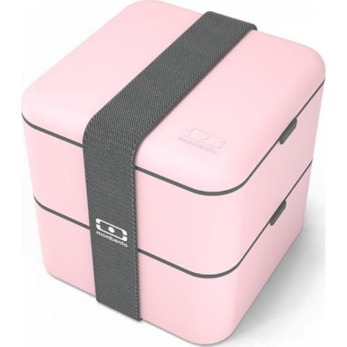 MB Square Litchi MonBento Bento Box kwadratowy 2-komorowy
