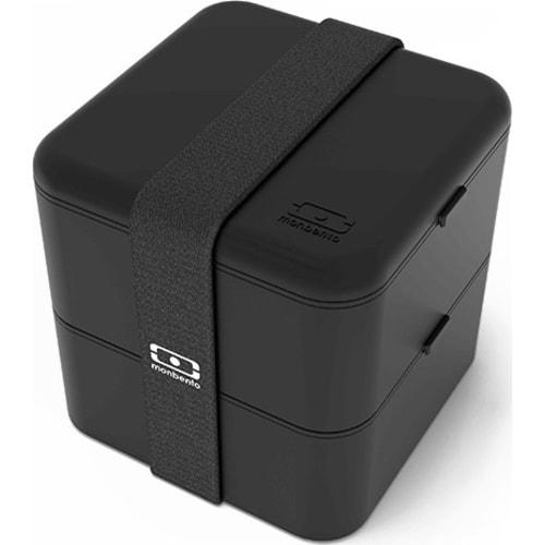 MonBento Bento Box 2w1/ black czarny MB Square