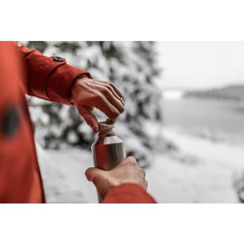 MonBento Butelka termiczna, bidon z zaparzaczem 0,5l Silver