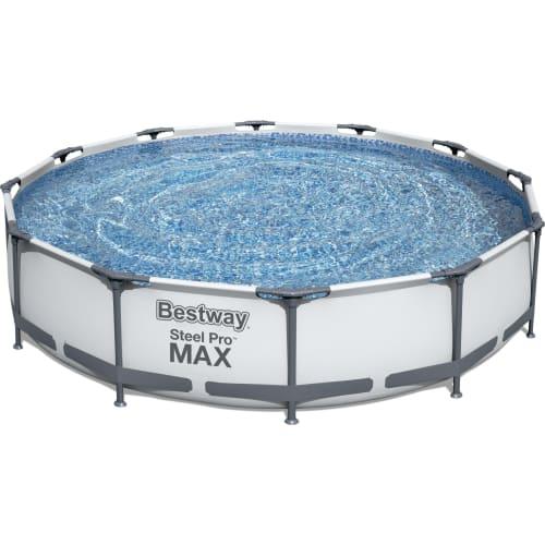 Basen Stelażowy z Pompą Filtracyjną 3.66m x 0.76m Steel Pro Max Bestway