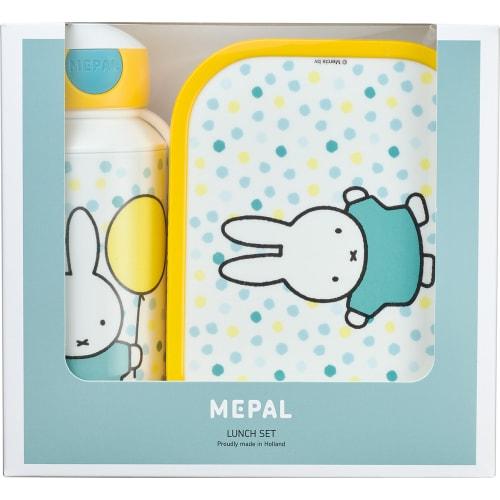 Mepal Zestaw butelka i lunchbox + widelczyk dla dziecka Miffy Confetti