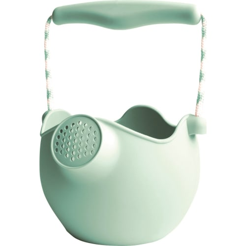 Silikonowe wiaderko konewka do zabawy w wodzie i piasku dla dzieci miętowe Scrunch