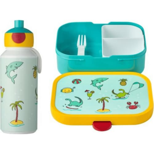 Zestaw dziecięcy bidon i lunchbox Campus Doodle Dino 107410165380