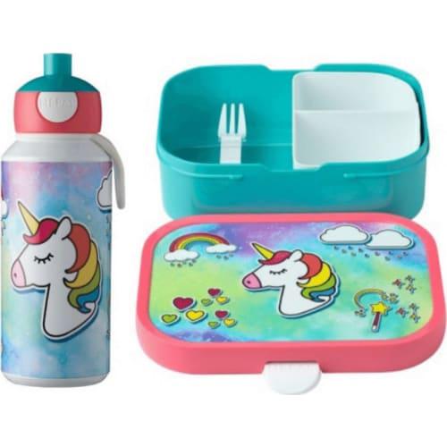 Mepal Zestaw butelka i lunchbox + widelczyk dla dziecka Animal Friends