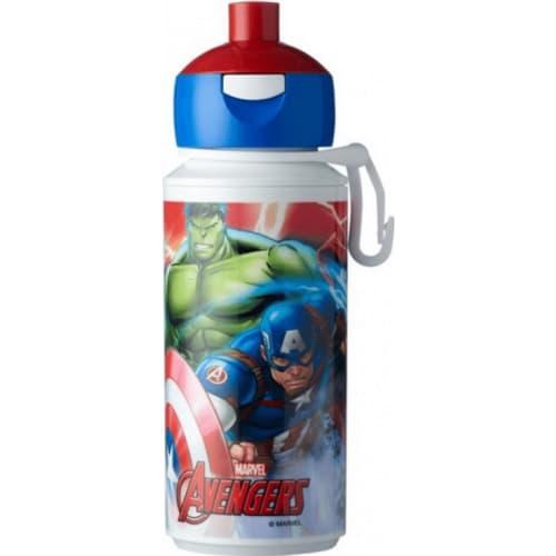 Mepal Butelka szkolna dla dzieci pop-up Avengers