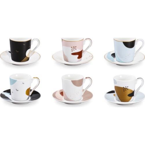 Filiżanka do espresso z podstawką myCOFFEE, 6 szt., Moon