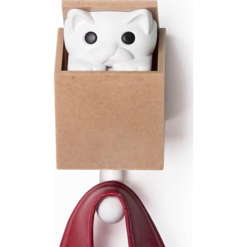 Wieszak Kitt-A-Boo biało-brązowy