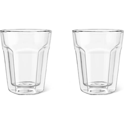 Zestaw dwóch szklanek termicznych do kawy z podwójną ścianką 220ml Leopold Vienna
