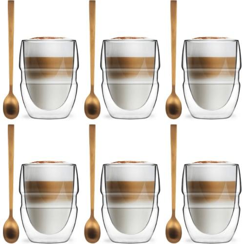 Zestaw 6 szklanek z podwójną ścianką 300ml Sferico Vialli Design