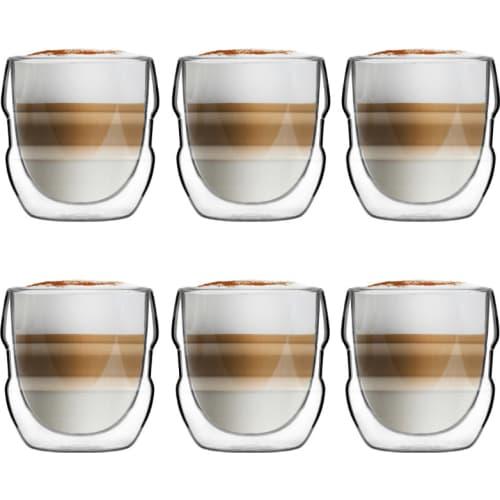 Zestaw 6 szklanek z podwójną ścianką 250ml Sferico Vialli Design