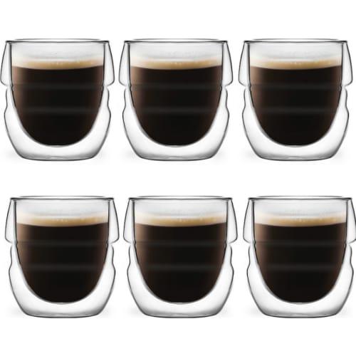 Zestaw 6 szklanek do espresso z podwójną ścianką 70ml Sferico Vialli Design