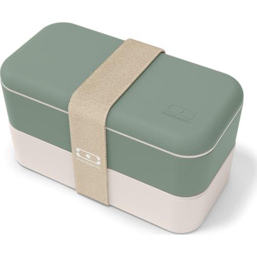 Bento box MonBento Original, Natural green