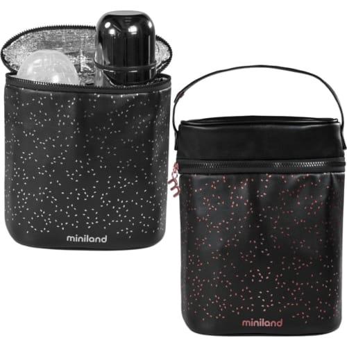 Termoopakowanie Deluxe na termosy/butelki 500ml - czarne/różowe Miniland