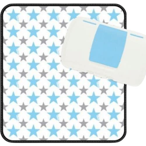 Podróżny przewijak w etui mata do przewijania w saszetce z pudełkiem na mokre chusteczki i pieluszki Shining Star b.box