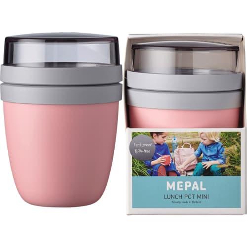 Szczelny lunchpot lunchbox na drugie śniadanie Nordic Pink Ellipse Mini Mepal