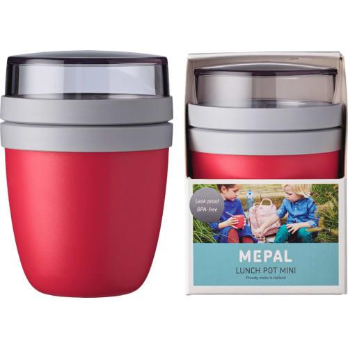 Szczelny lunchpot lunchbox na drugie śniadanie Nordic Red Ellipse Mini Mepal