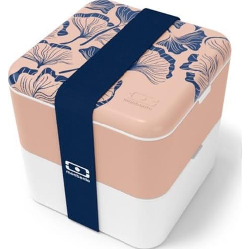 MB - Lunchbox Bento Square FR, Graphic Ginkgo