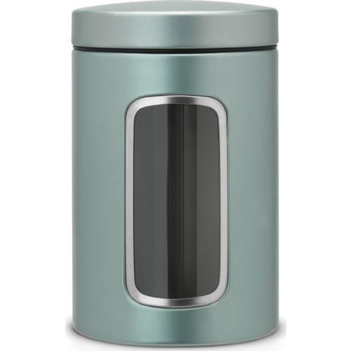 BRABANTIA - Pojemnik z okienkiem 1,4l - metaliczny miętowy