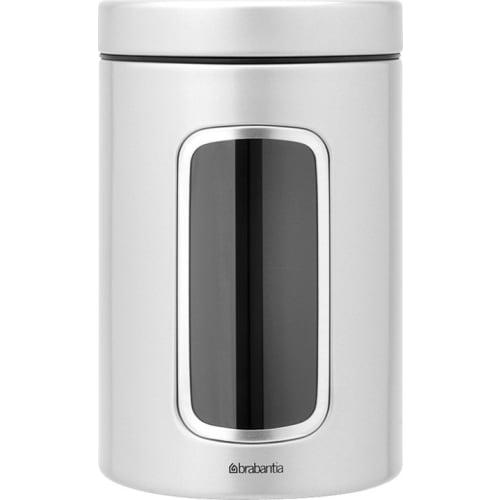 BRABANTIA - Pojemnik z okienkiem 1,4l - metaliczny szary