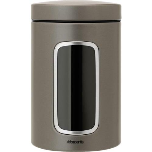 BRABANTIA - Pojemnik z okienkiem 1,4l - platynowy