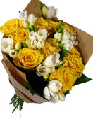 Roses and Freesias