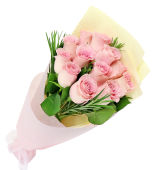 Soft Pink Rose Bunch
