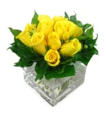 Yellow Rose Vase