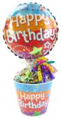 Happy Birthday Lolly Pot