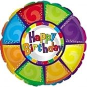 Happy Birthday - colourful