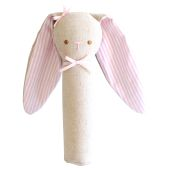 Linen Bunny Squeaker - Pink