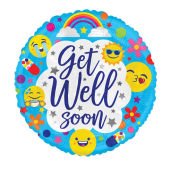 Get Well Soon - Emoji Blue