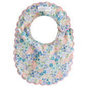 Liberty Blue Scallop Edge Bib